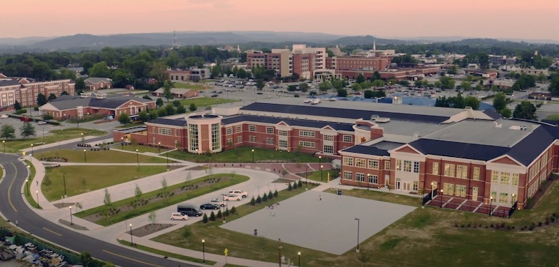 Tennessee Tech University Marc L. Burnett Student Recreation & Fitness Center aerial