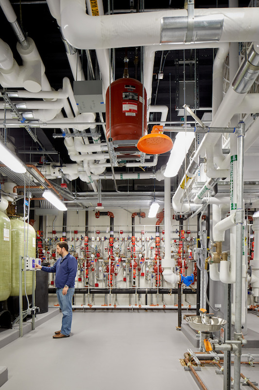 Part of the mechanical/electrical works inside the Operations Center