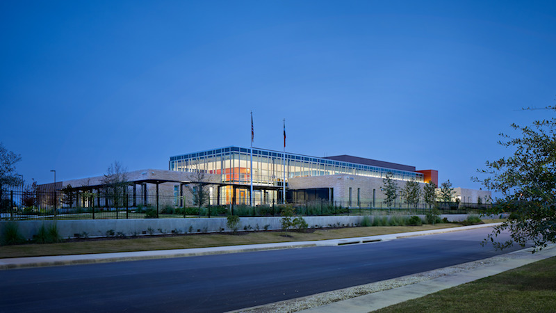 The exterior of the Bexar Metro 911 Regional Operations Center