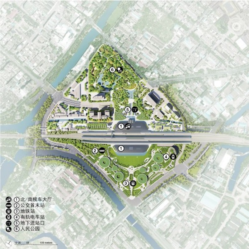 Jiaxing Train Station master plan