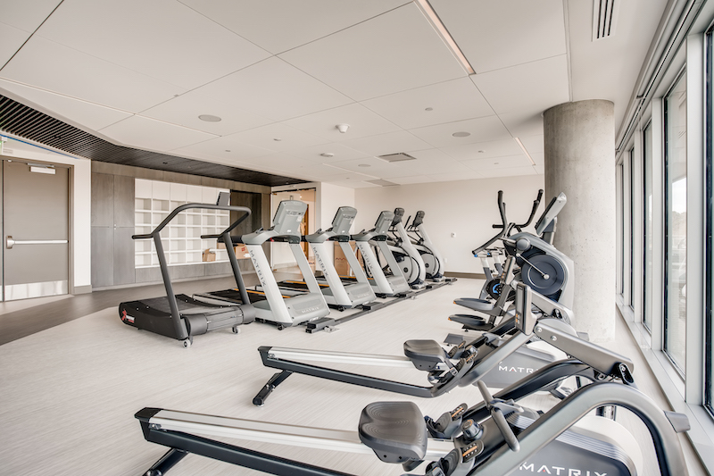 Lakehouse exercise room
