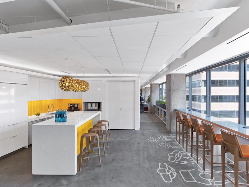 A kitchen space located within the ASID Headquarters in Washington, D.C.