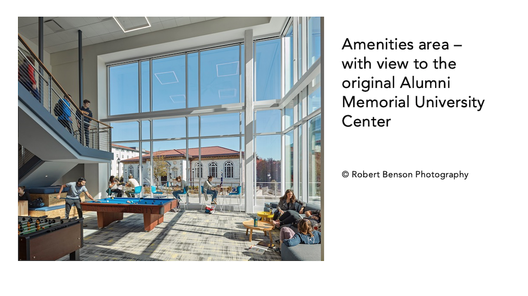 Amenities area of Emory Student Center