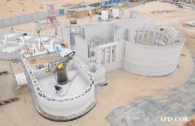 Dubai municipality building being 3D printed