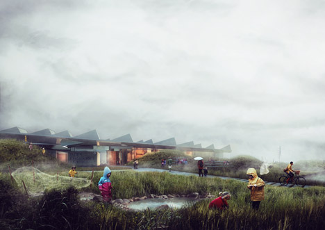 Marine Education Centre in Malm, Sweden. Renderings: Nord Architects