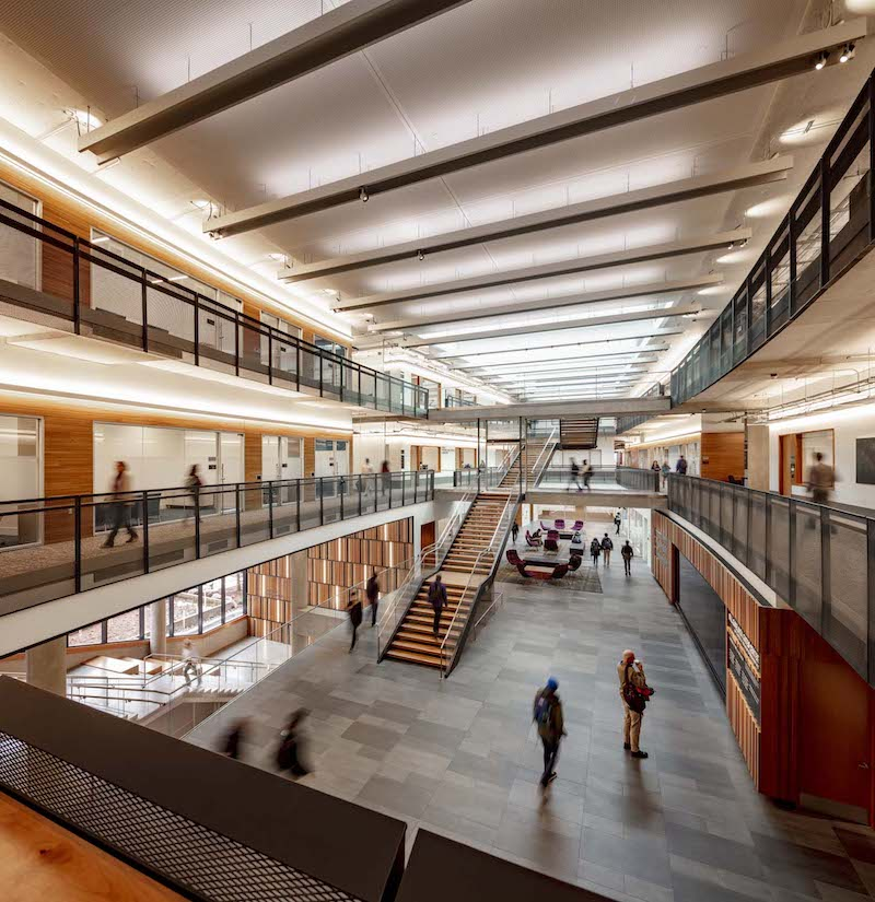 Interior of the Bill and Melinda Gates Center for Computer Science and Engineering