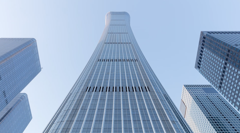 CITIC Tower from the ground