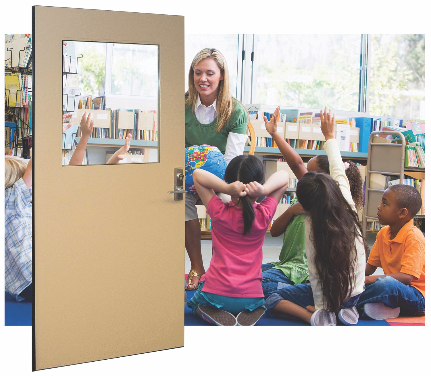 Ceco attack-resistant openings in a classroom setting
