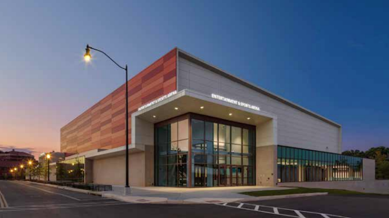 DC entertainment and sports arena exterior