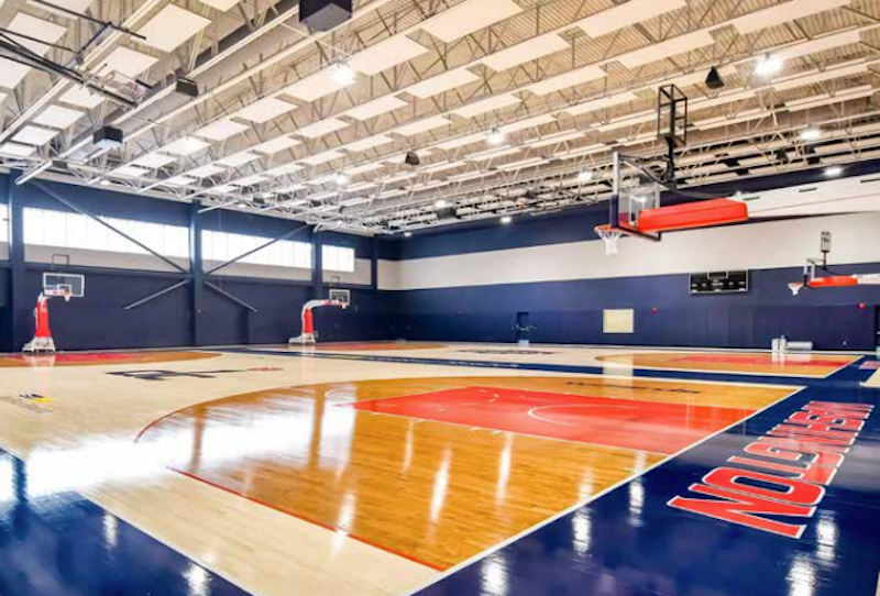 Practice court in new DC entertainment and sports venue