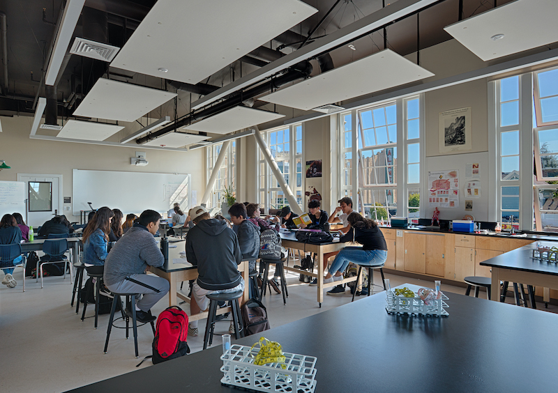 One of 11 sciences labs added during the school's reconstruction.