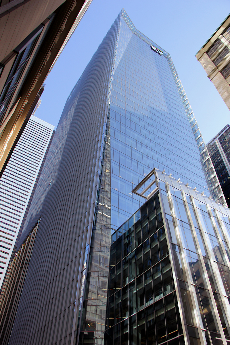 Guardian Sunguard Low E Coated Glass Helps Ey Tower Stand Out And Blend In Building Design Construction