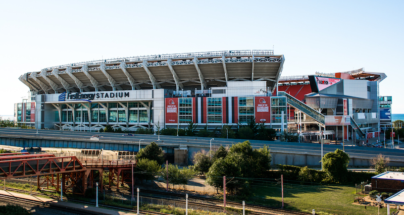 The exterior of FirstEnergy Stadium, home of the Cleveland Browns