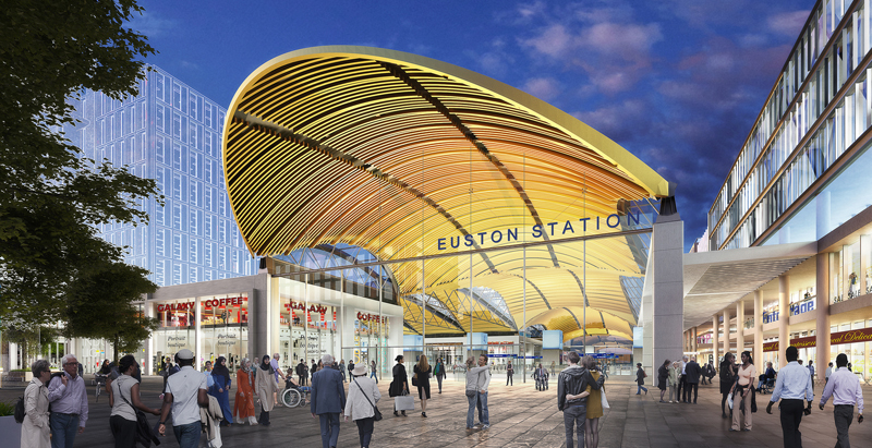 Grimshaw and Arup unveil proposal for London high-speed train station
