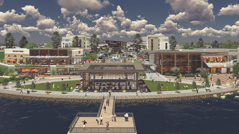 A rendering of the LakePointe Urban Village