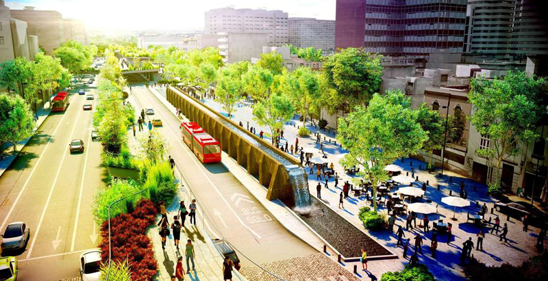 "Proposed ""High Line"" in Mexico City pays homage to Aztec aqueduct"