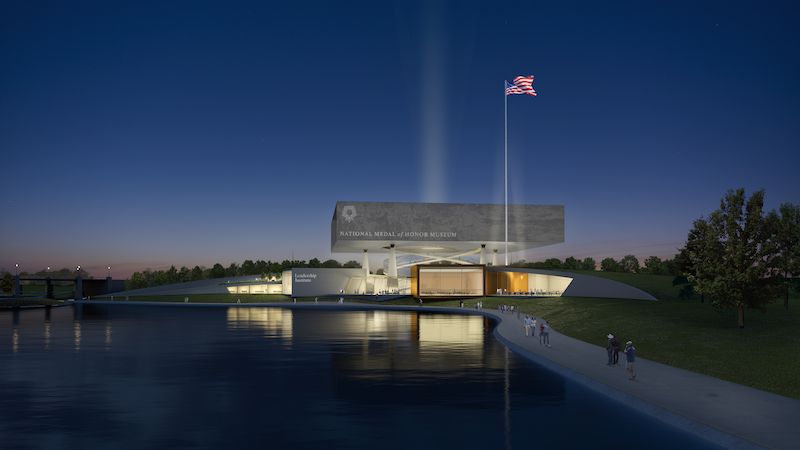 National Medal of Honor Museum exterior rendering