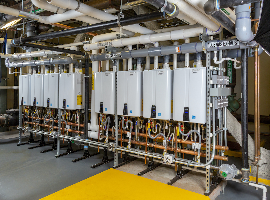 Navien Tankless Water Heaters at West End Asteria Apts Boston