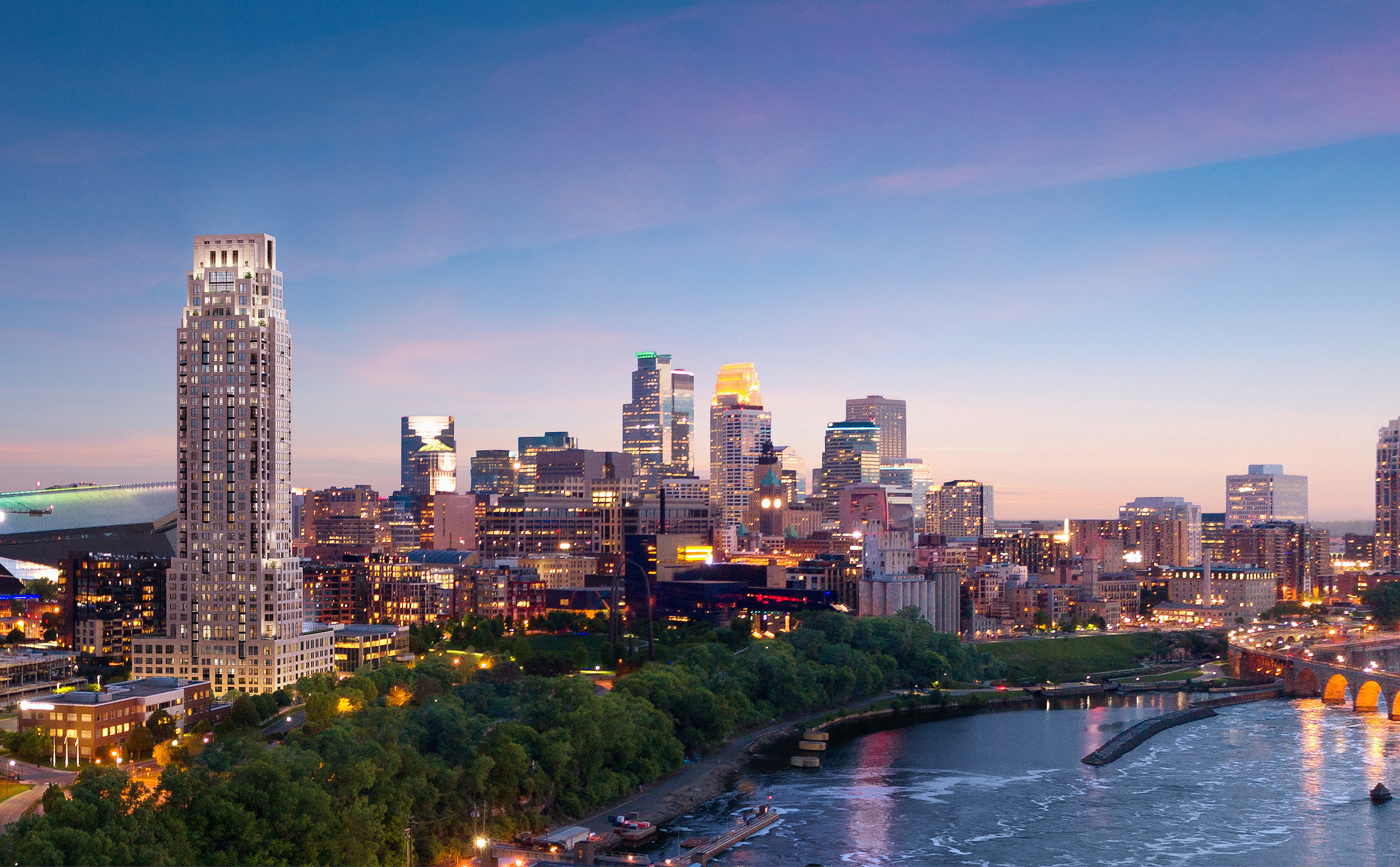 Eleven multifamily tower in the Minneapolis skyline