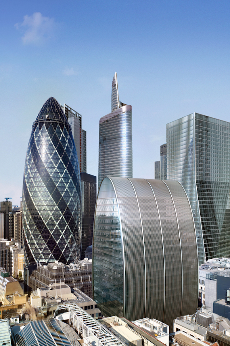 70 St Mary Axe during the day