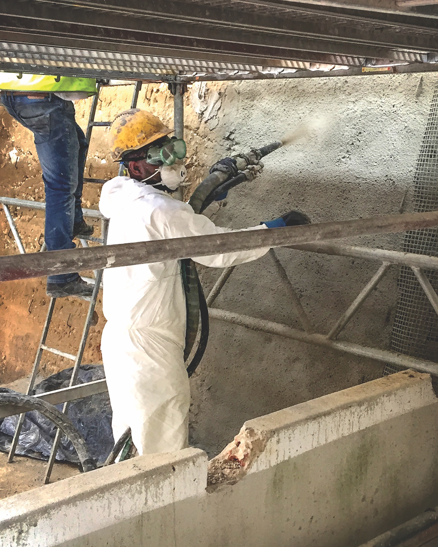 Simpson Strong-Tie fabric-reinforced cementitious matrix installation