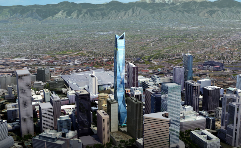 Six Fifty 17 rising from the Denver skyline