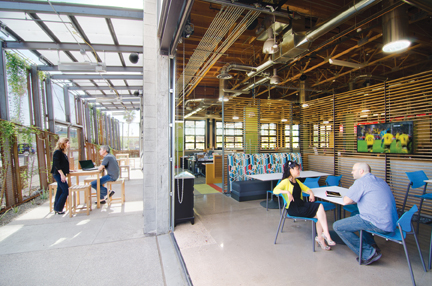 In addition to achieving net-zero energy use and LEED-NC Platinum certification,