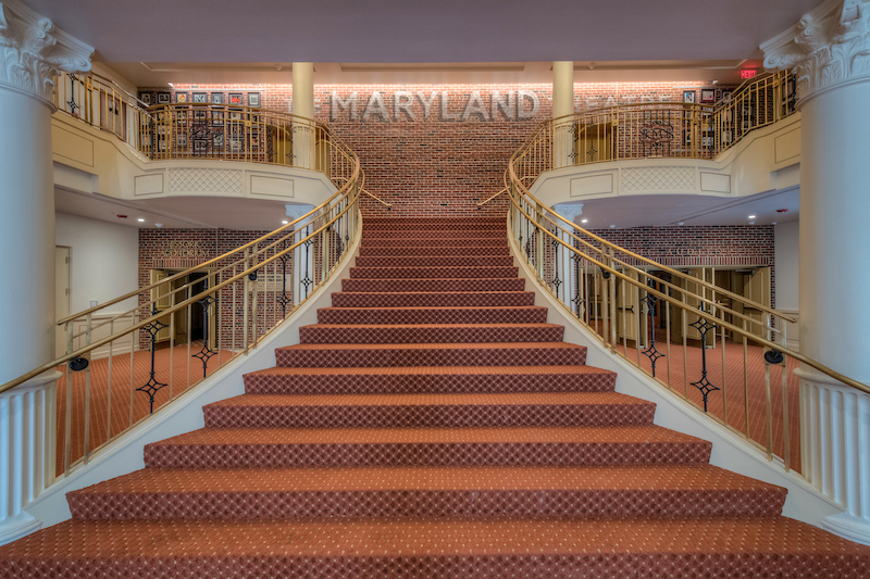 The Maryland Theatre main stair
