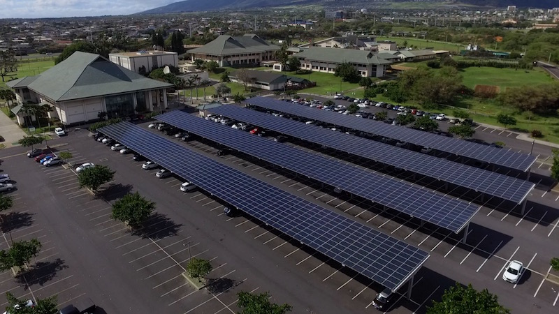 Solar Array at Uh Maui College