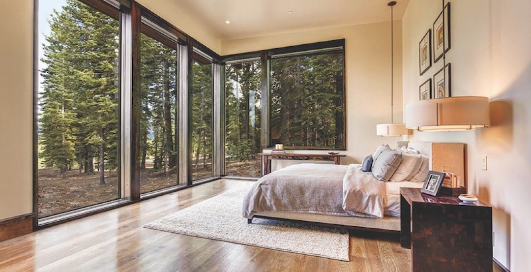 Weather Shield windows in a bedroom