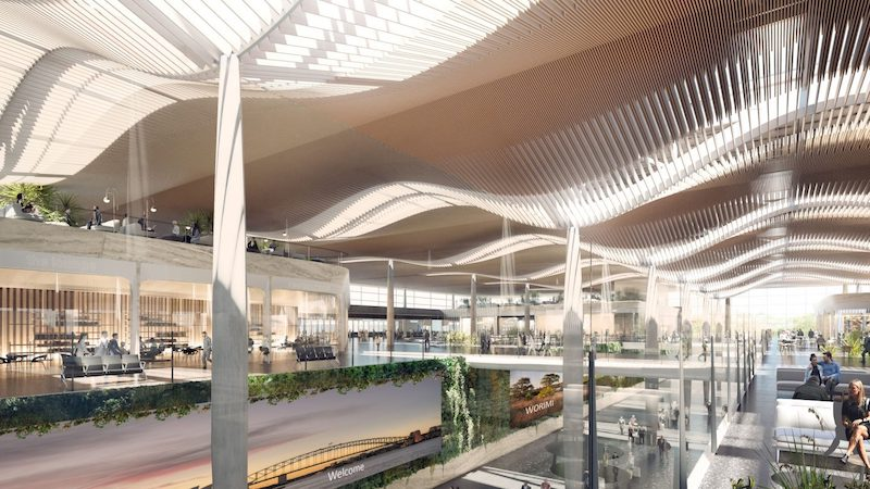 Western Sydney International airport designed by COX and Zaha Hada Architects