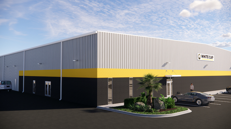 Rendering of White Cap Construction's facility in Fort Myers, Fla.