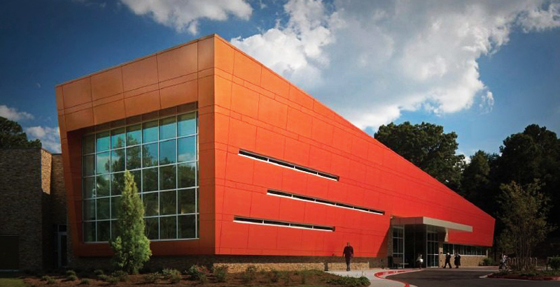 """The Wolf Creek Library: ALPOLIC® Materials welcomes a community to its new """"living room."""""""
