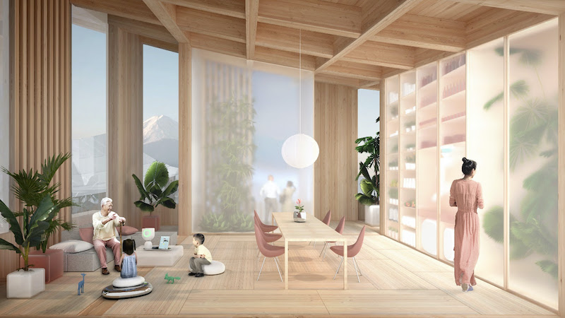Woven City interior residential