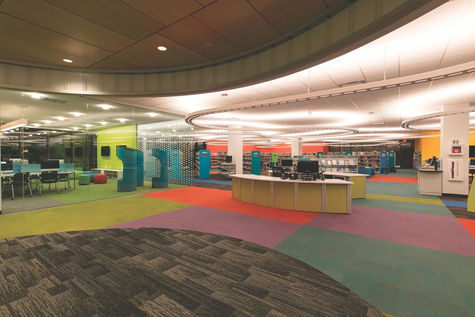 Indian trails library in Wheeling, Illinois