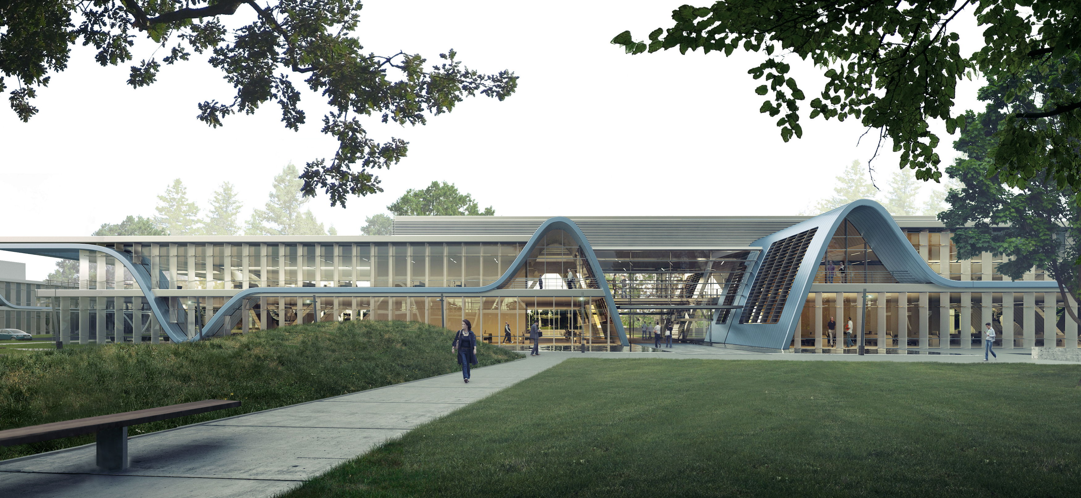 Form4 Designs Curved Roofs For Project At Stanford Research Park Building Design Construction