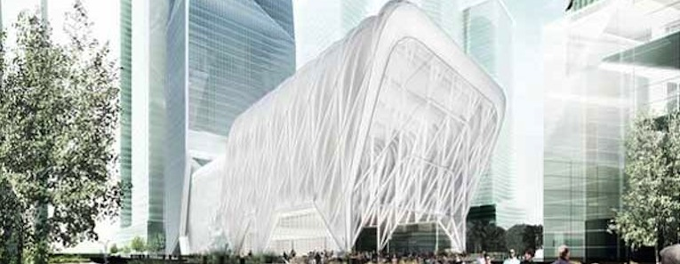 A movable shell would create temporary exhibition/performance space for NYC.