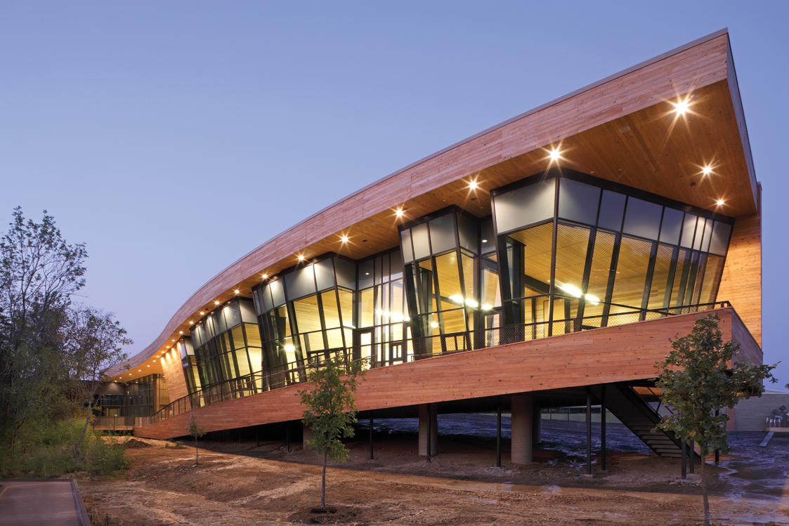 Cypress Siding Helps Nature Center Look Its Part