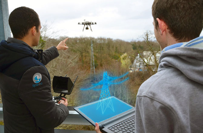 French startup develops drone camera that overlays video with 3D images