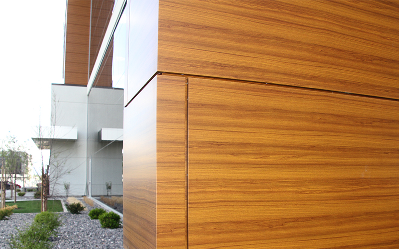 ALPOLIC panels can be formed into any shape and still bring the look of wood