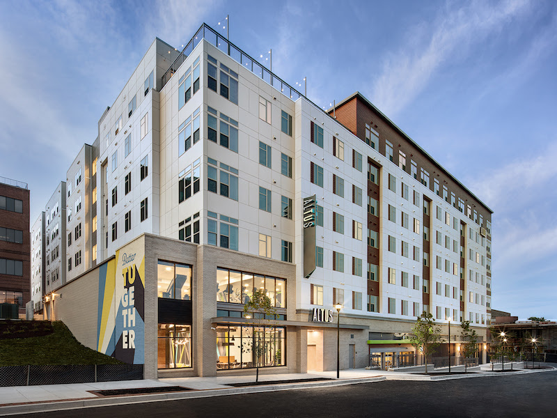 Altus student housing development at Towson University by Gilbane building companies 2020 student housing report
