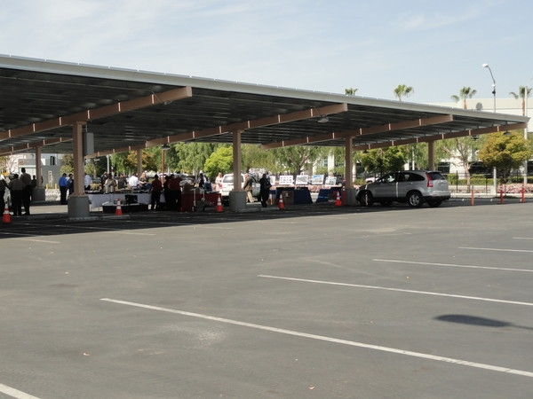 The project consisted of 8,372 modules including 196 LED carport lights using ap