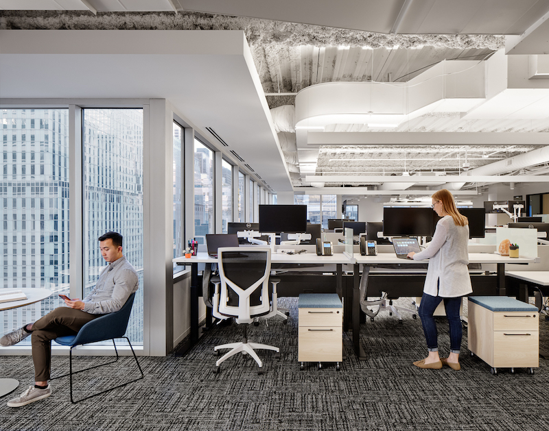 CareerBuilder HQ open office space