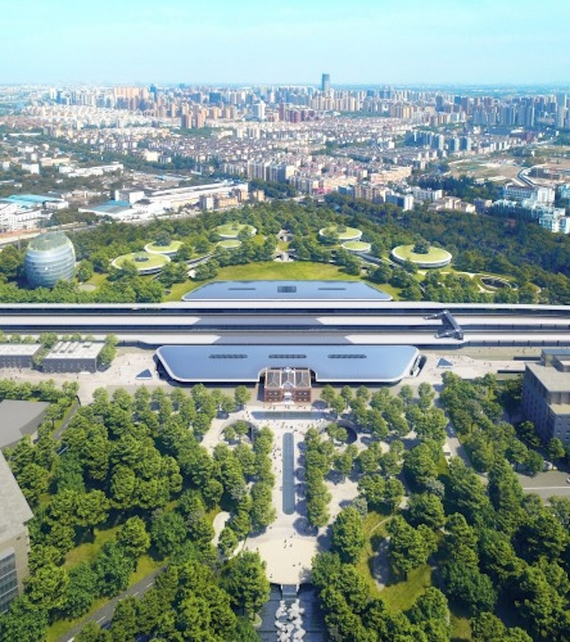 Jiaxing Train Station aerial