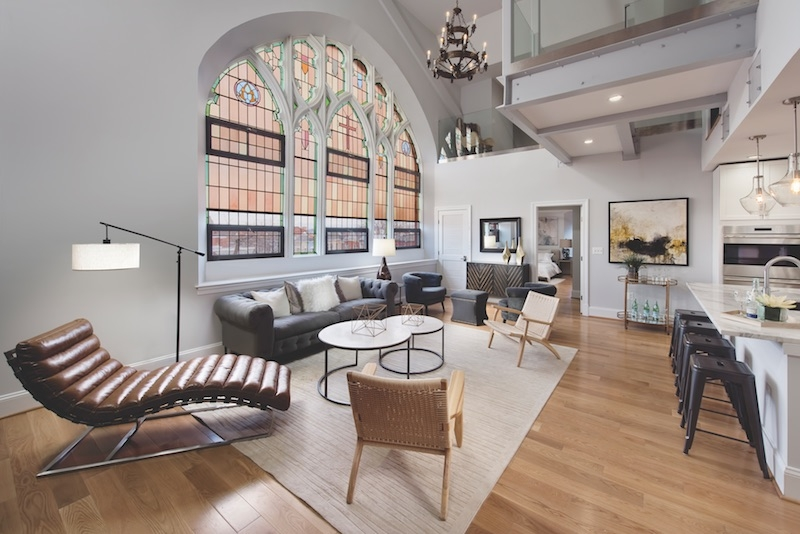 The 2,300-sf penthouse in The Sanctuary