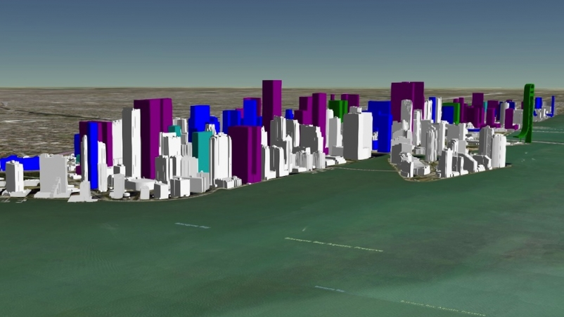 Interactive map shows present and future Miami skyline