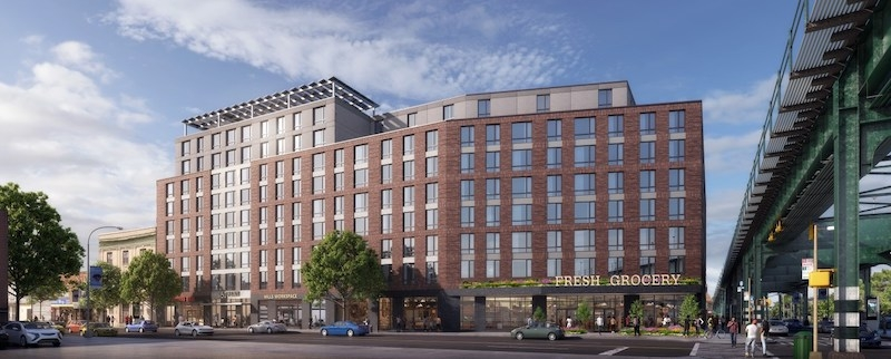 50 Penn affordable apartments and grocery store