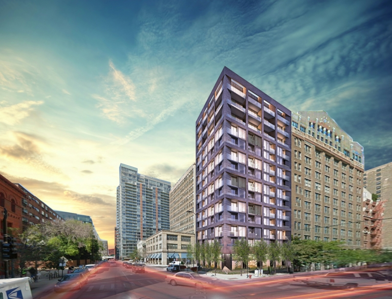 Quarter-acre of land is enough space for an upscale Chicago apartment complex