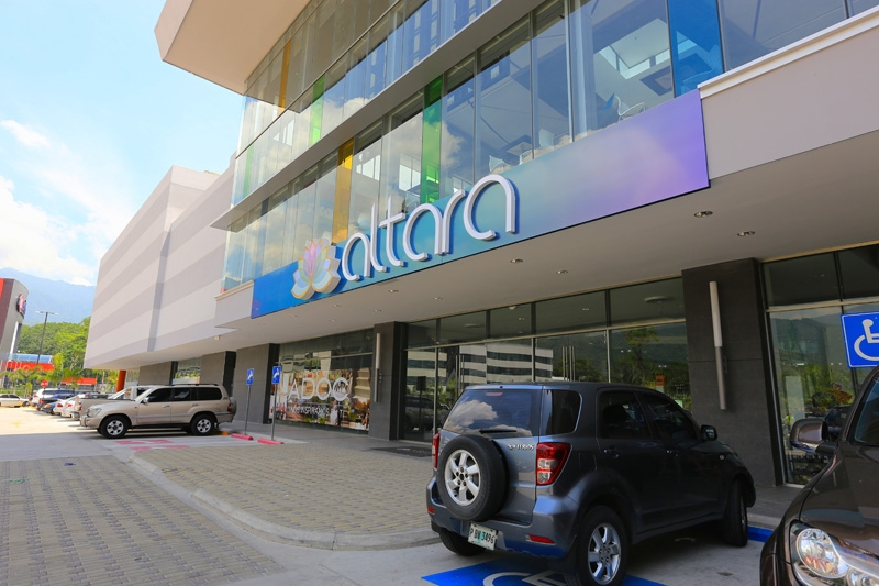 Prismatic coatings accent the new Altara Center