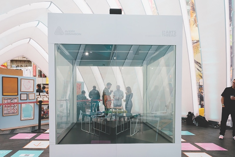 """Avery Dennison's Vela places a thin translucent film over indoor glass panes, creating a fully """"switchable"""" system."""